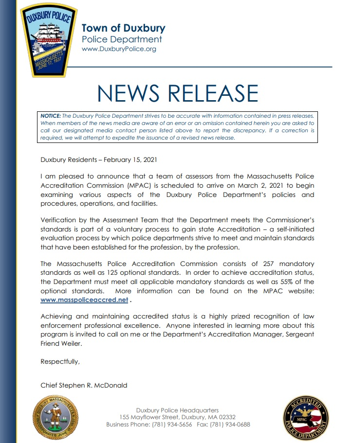 MPAC notice