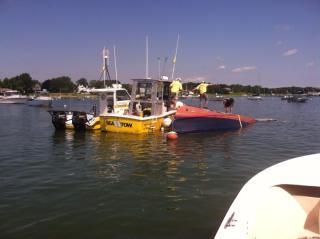 Sunk vessel